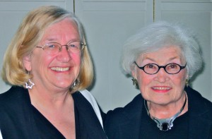 Jeanne Mozier and Betty Lou Harmison